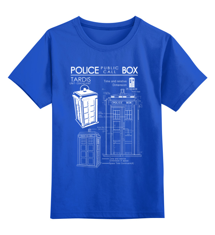 Детская футболка классическая унисекс Printio Тардис блокнот printio tardis in space