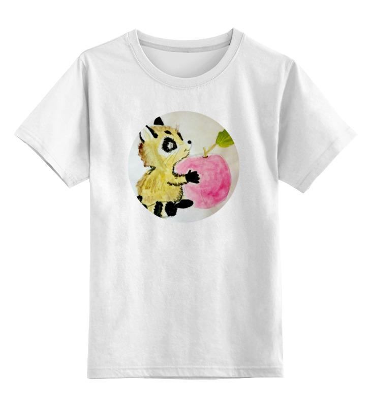 Детская футболка классическая унисекс Printio Малыш енот