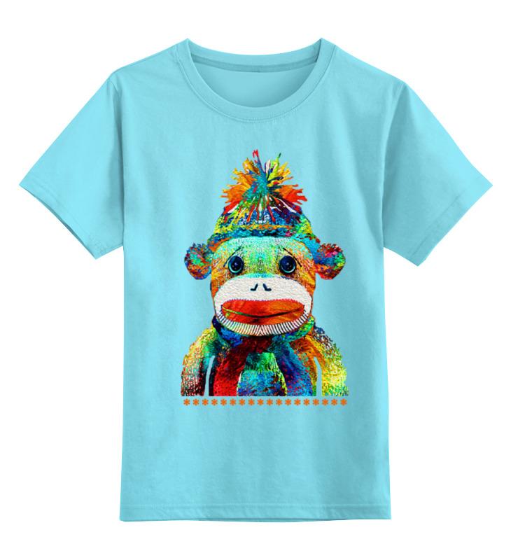 Детская футболка классическая унисекс Printio Обезьяна. символ 2016 года