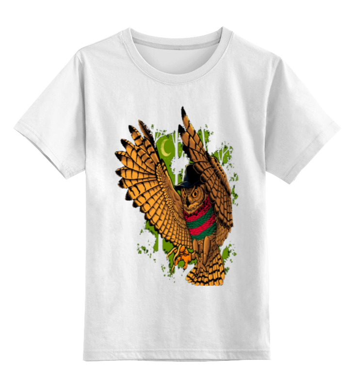 Детская футболка классическая унисекс Printio Летящая сова цена и фото