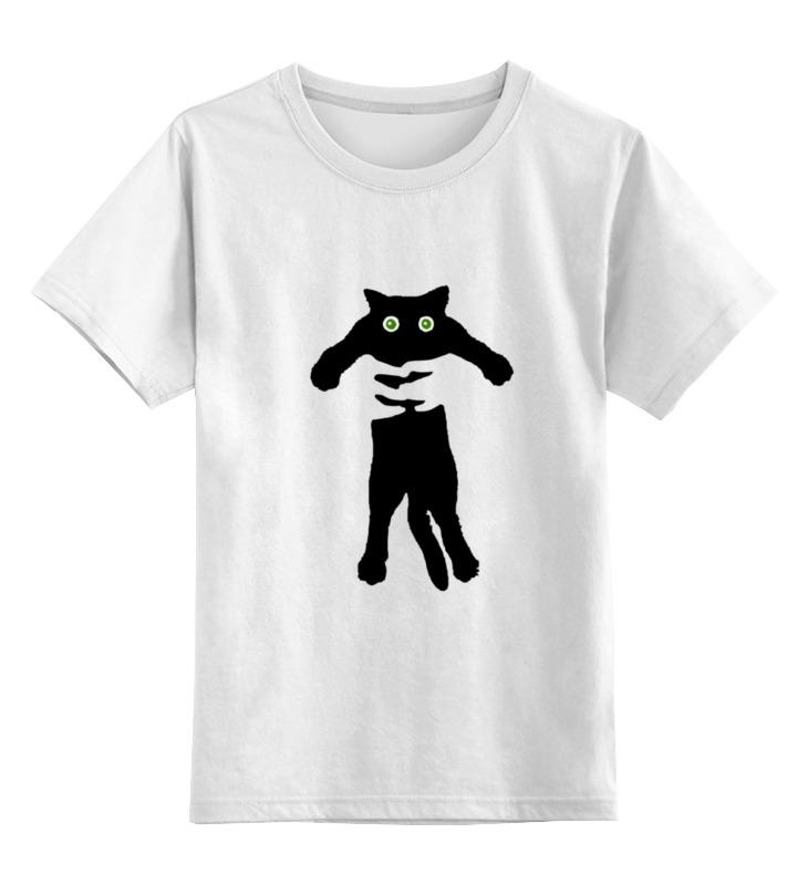 Детская футболка классическая унисекс Printio Кот в руках бенгальского котенка в егорьевске