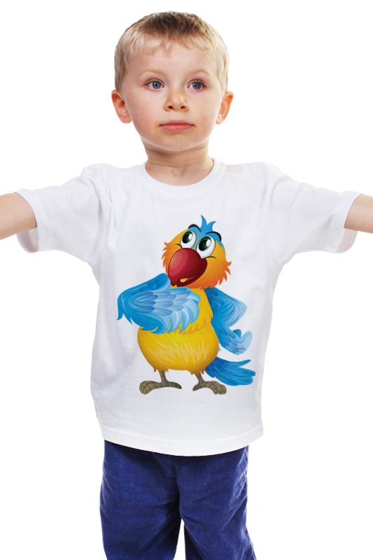 Детская футболка классическая унисекс Printio Попугай кеша  astrel настольная игра домино попугай кеша арт 10915