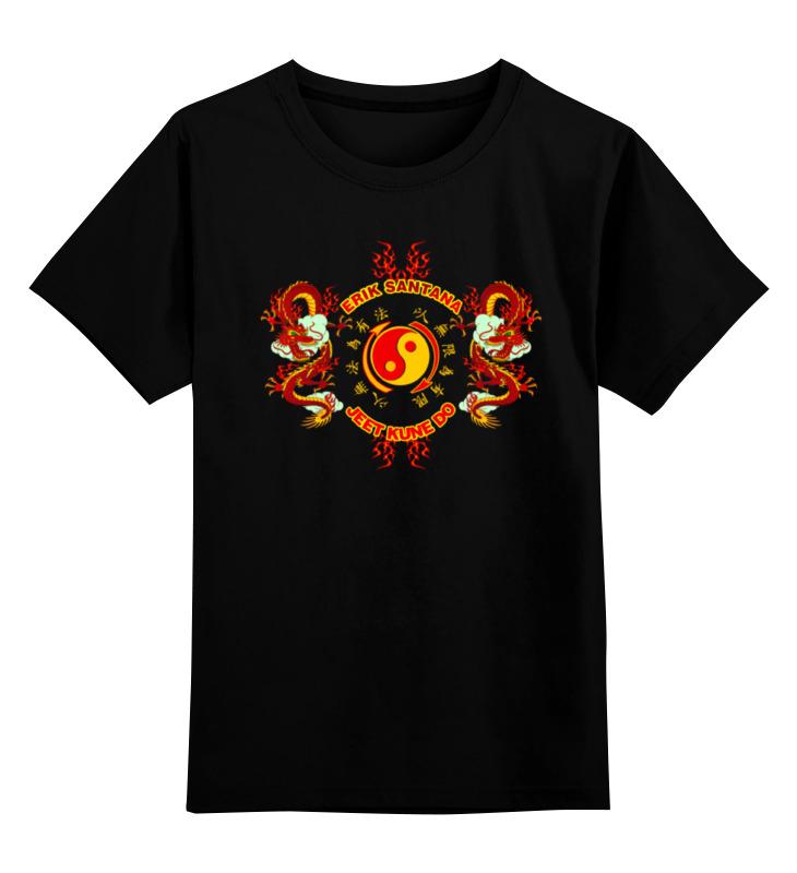 Детская футболка классическая унисекс Printio Erik santana - jeet kune do