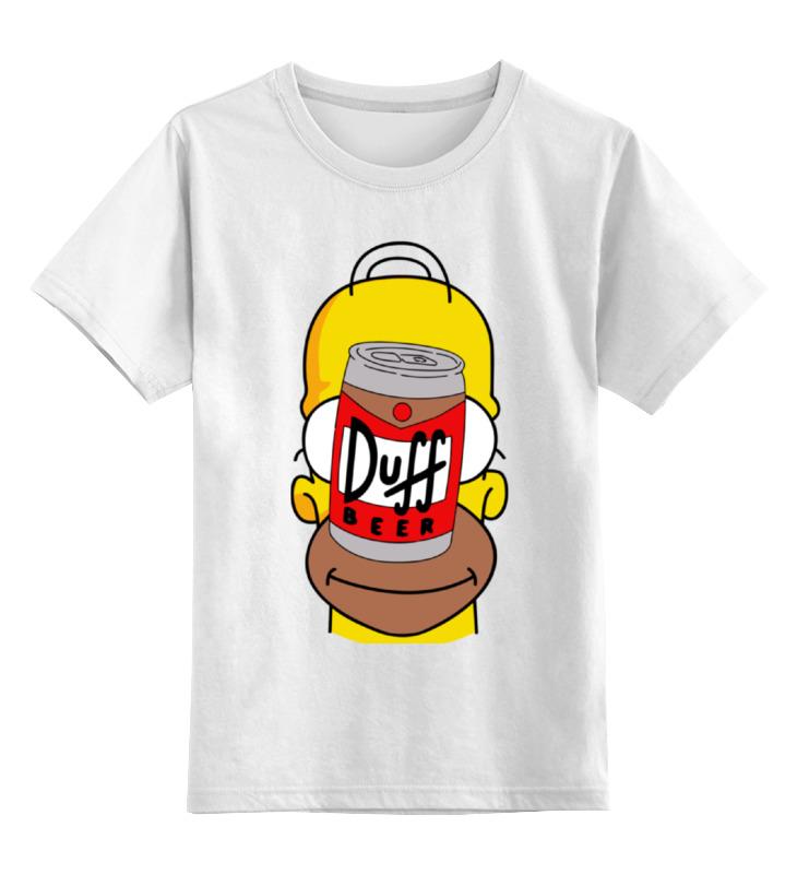 Детская футболка классическая унисекс Printio Гомер (пиво дафф) детская футболка классическая унисекс printio ячмень солод вода пиво