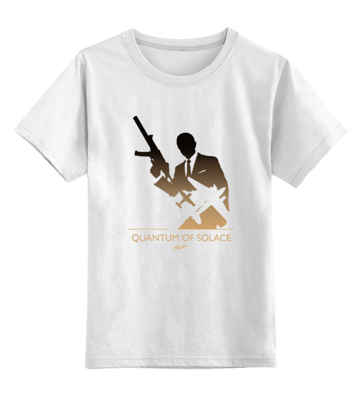 Детская футболка классическая унисекс Printio 007: квант милосердия квазиэлектронная атс квант