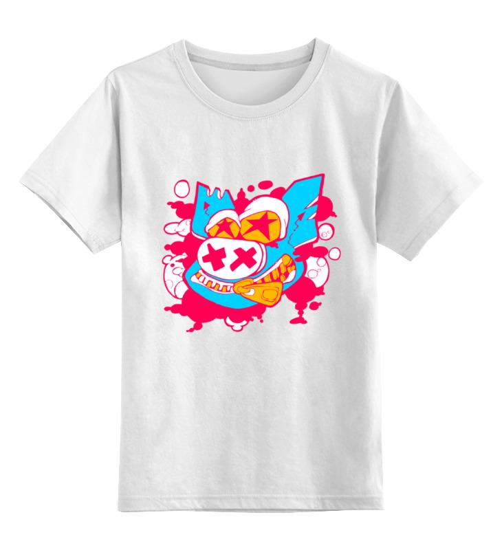 Детская футболка классическая унисекс Printio Маска свина цена