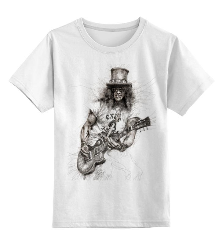 Детская футболка классическая унисекс Printio Slash (guns n' roses) цена