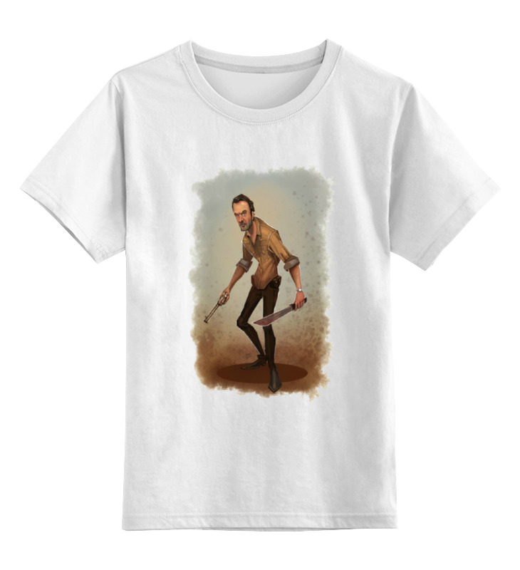 Детская футболка классическая унисекс Printio The walking dead rick футболка классическая printio the walking dead rick