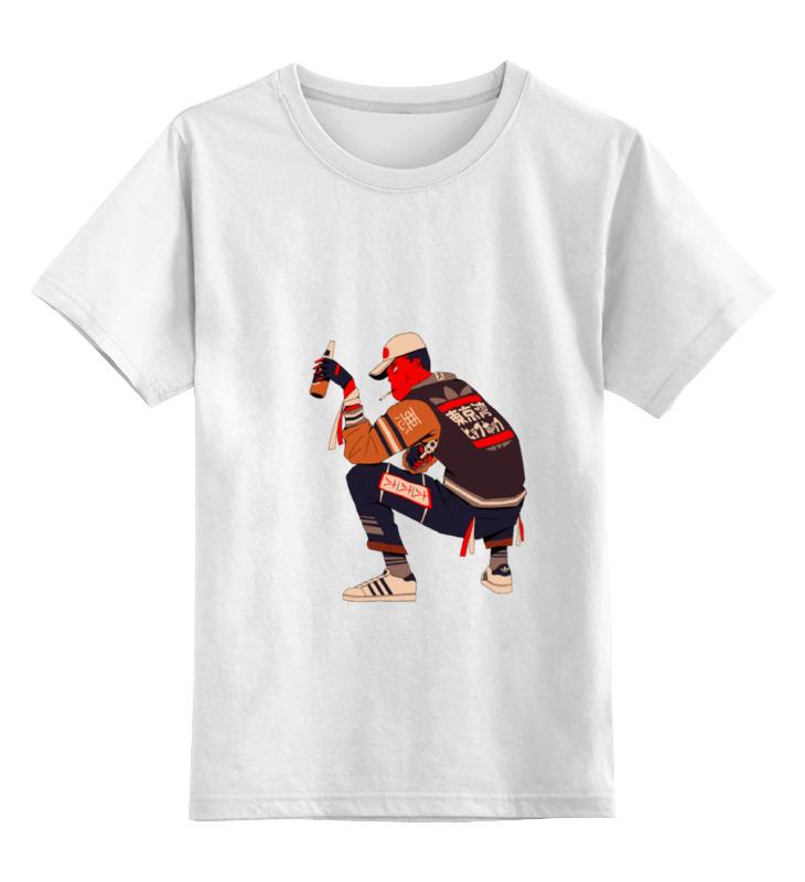 Детская футболка классическая унисекс Printio Японский парень купить японский майонез кюпи в ростове