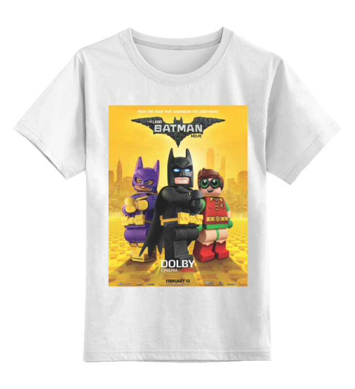 Детская футболка классическая унисекс Printio Лего фильм: бэтмен / the lego batman movie huong movie 30cm batman v superman dawn of justice the dark night batman armored blinde pvc figure collectible model toys