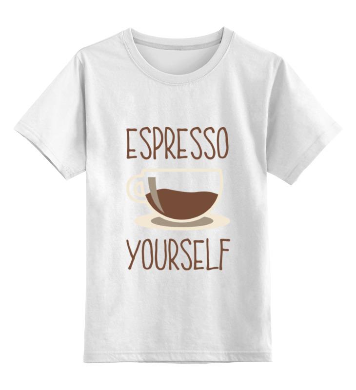 Детская футболка классическая унисекс Printio Эспрессо