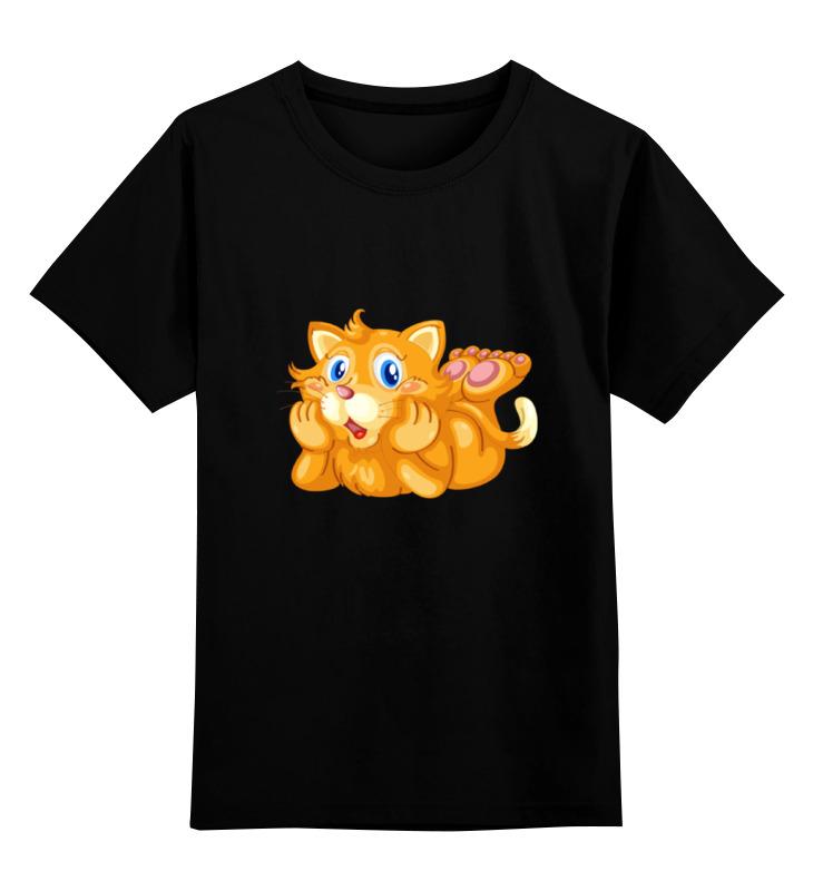 Детская футболка классическая унисекс Printio Рыжий кот