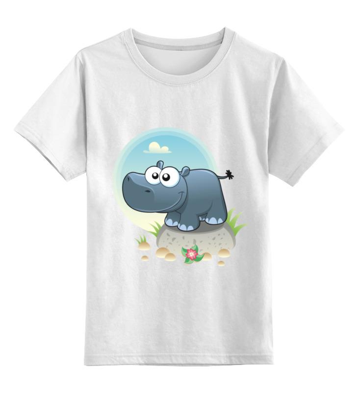 Детская футболка классическая унисекс Printio Бегемот пэпа телефон бегемот