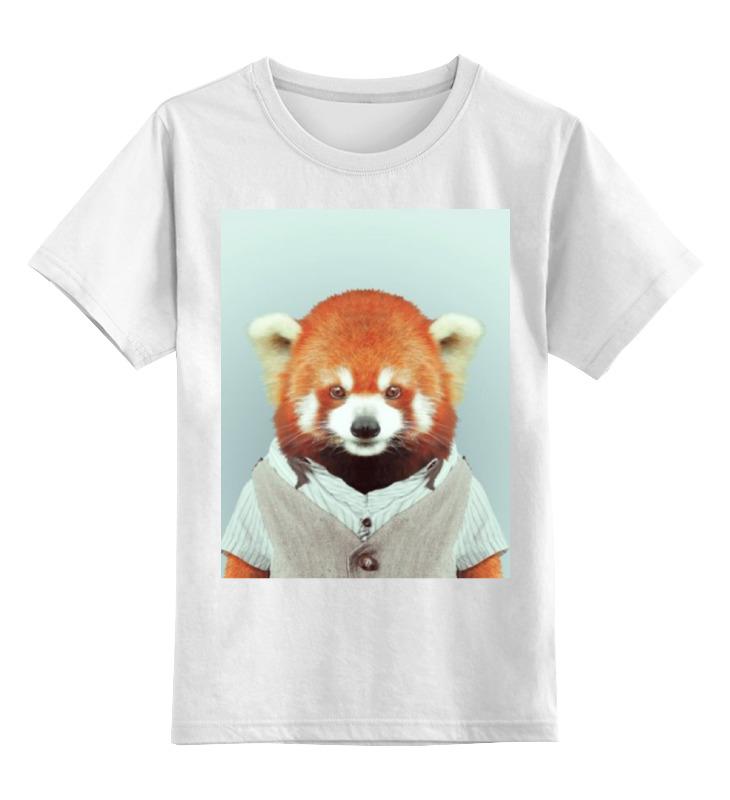 Детская футболка классическая унисекс Printio Деловая панда