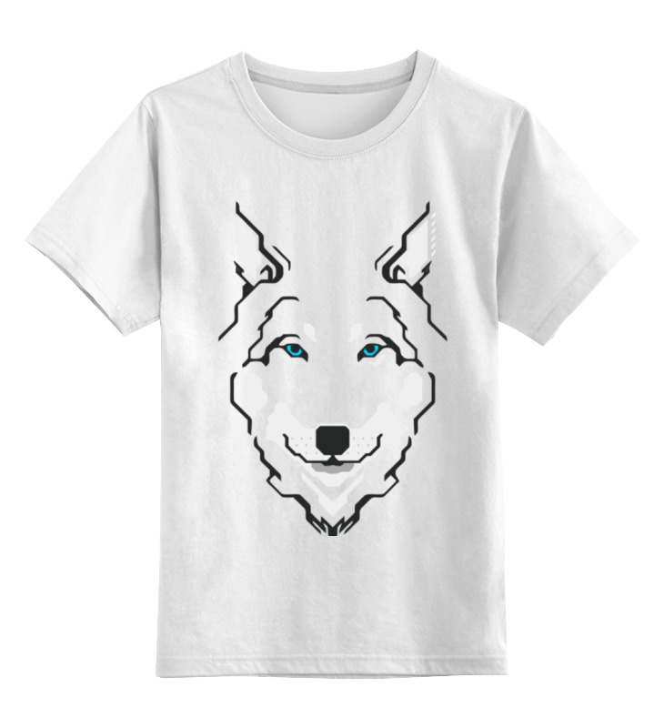 Детская футболка классическая унисекс Printio Волк (wolf)