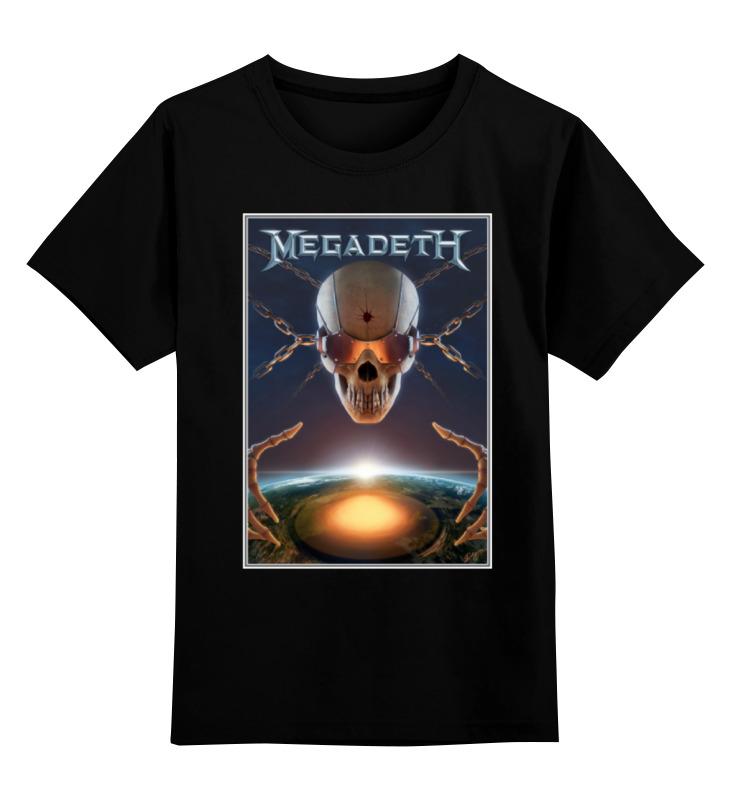 Детская футболка классическая унисекс Printio Megadeth band