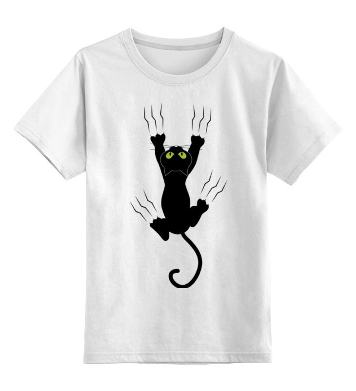 Детская футболка классическая унисекс Printio Прикольный кот детская футболка классическая унисекс printio абстрактный кот