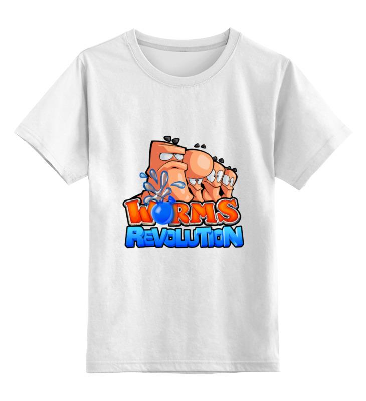Детская футболка классическая унисекс Printio Worms revolution цена