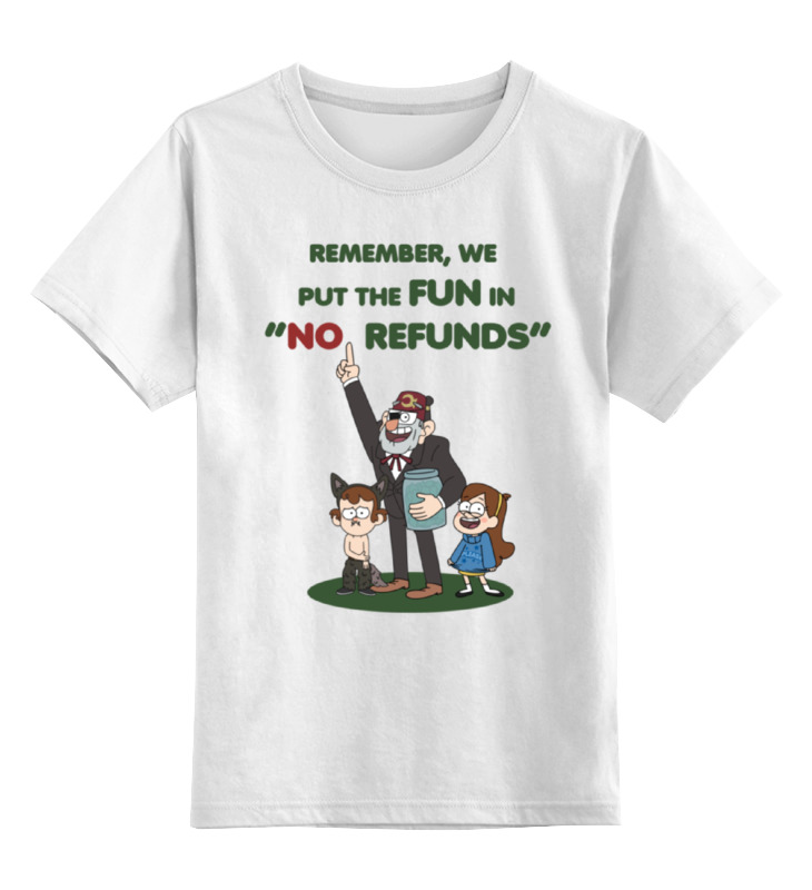 Детская футболка классическая унисекс Printio Gravity falls remember