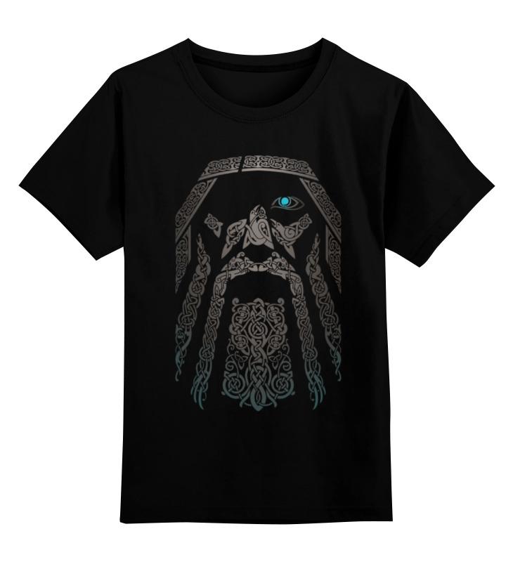 Детская футболка классическая унисекс Printio Один (odin)
