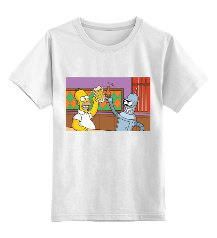 Детская футболка классическая унисекс Printio Homer and bender футболка print bar homer in pieces