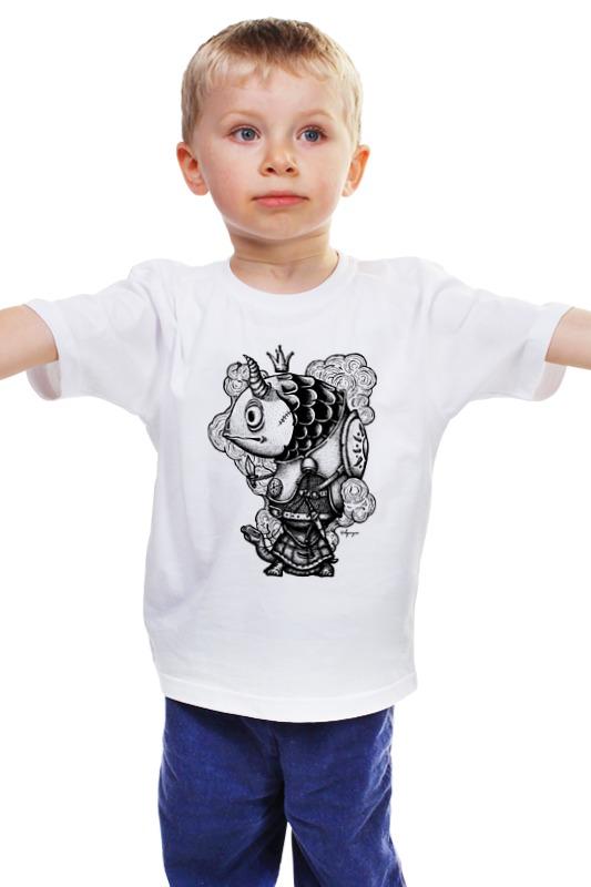 Детская футболка классическая унисекс Printio Рыба-воин
