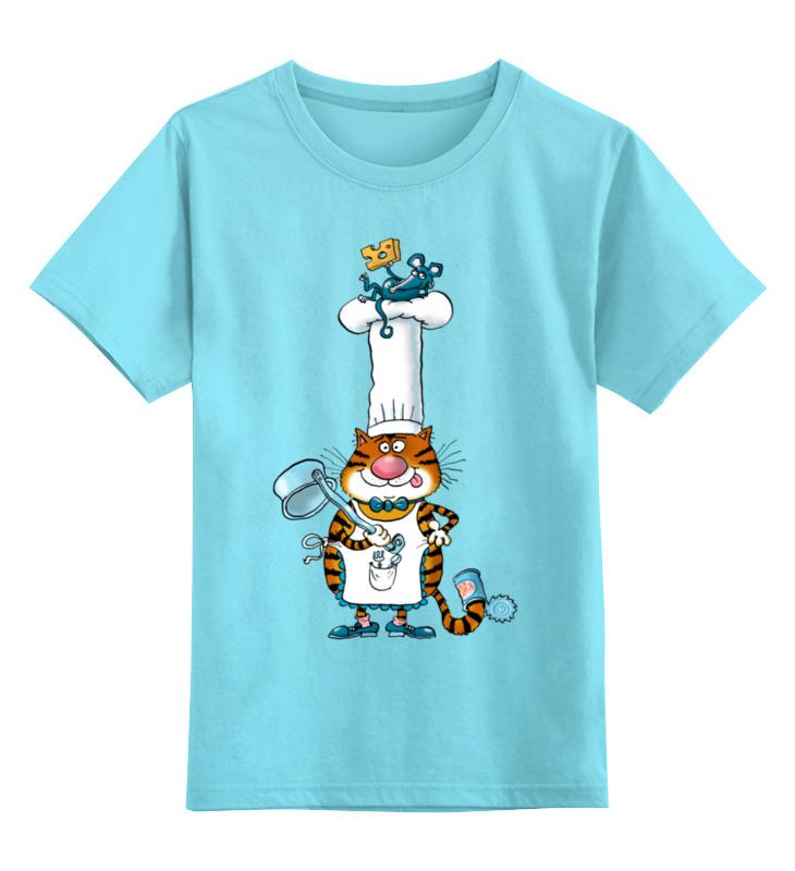 Детская футболка классическая унисекс Printio Повар кот детская футболка классическая унисекс printio повар кот