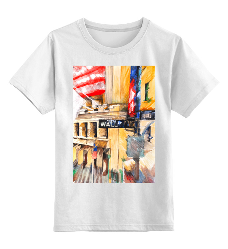 Детская футболка классическая унисекс Printio Уолл стрит лин к шлоссберг б трейдеры миллионеры как переиграть профессионалов уолл стрит на их собственном поле