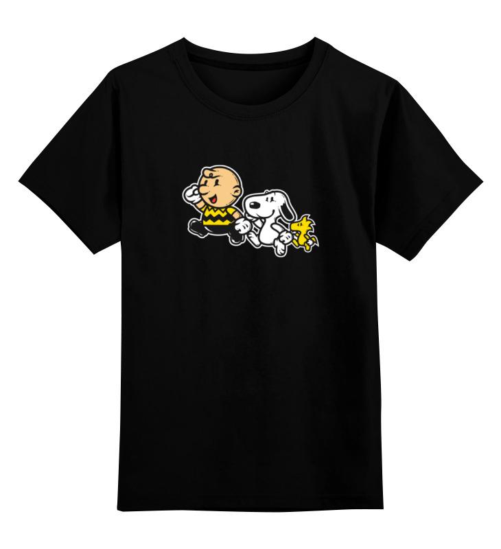 Детская футболка классическая унисекс Printio Чарли браун и снупи snoopy это загадка чарли браун