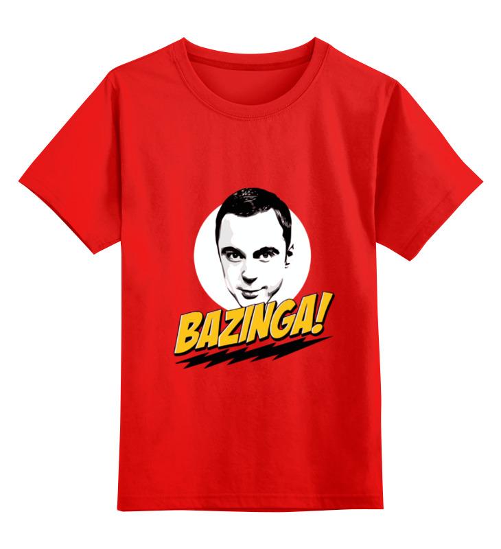 Детская футболка классическая унисекс Printio Bazinga! детская футболка классическая унисекс printio фраза шелдона купера