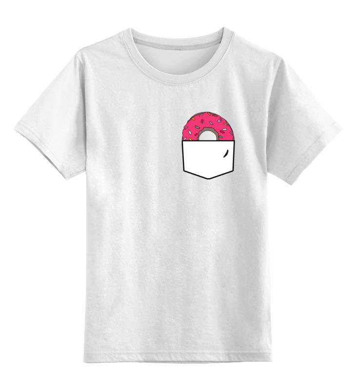 Детская футболка классическая унисекс Printio Пончик в кармане
