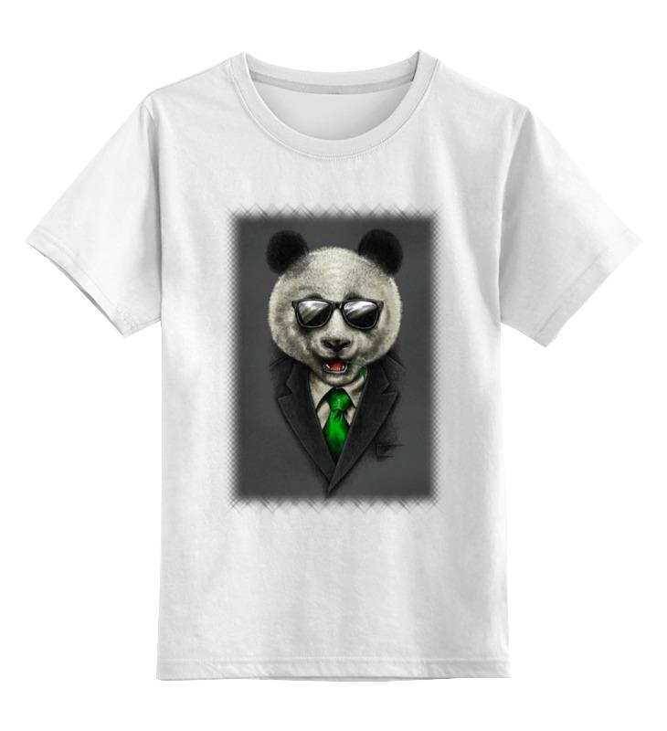 Детская футболка классическая унисекс Printio Модный панда медведь детская футболка классическая унисекс printio король панда