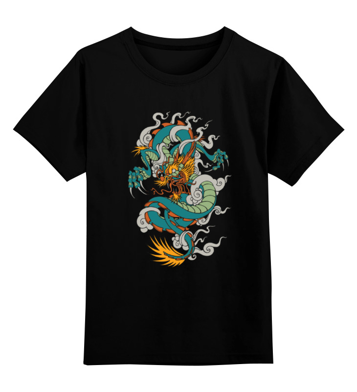 Детская футболка классическая унисекс Printio Зеленый дракон gangxun зеленый цвет