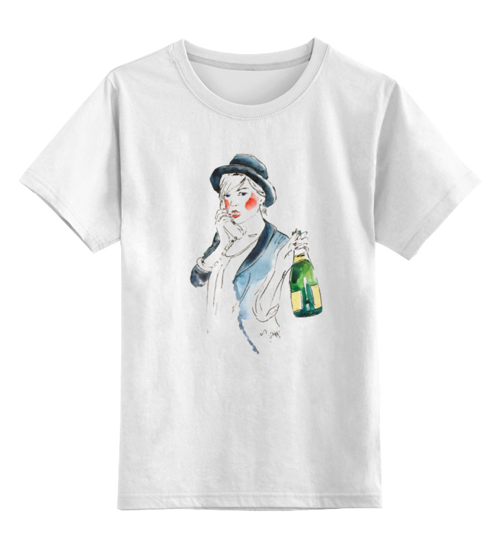 Детская футболка классическая унисекс Printio С праздником детская футболка классическая унисекс printio девушка в шляпе