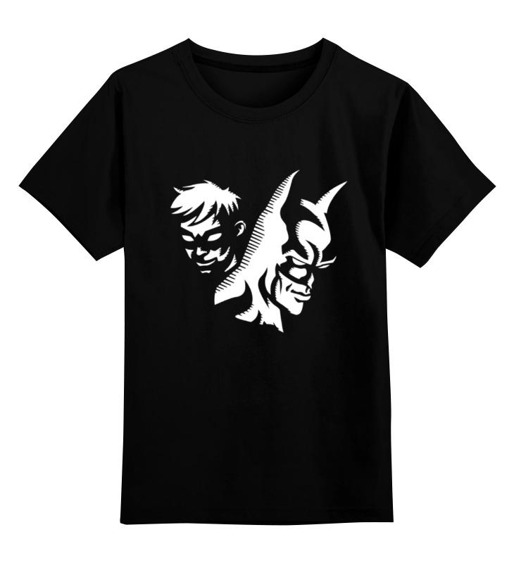 Детская футболка классическая унисекс Printio Batman x robin