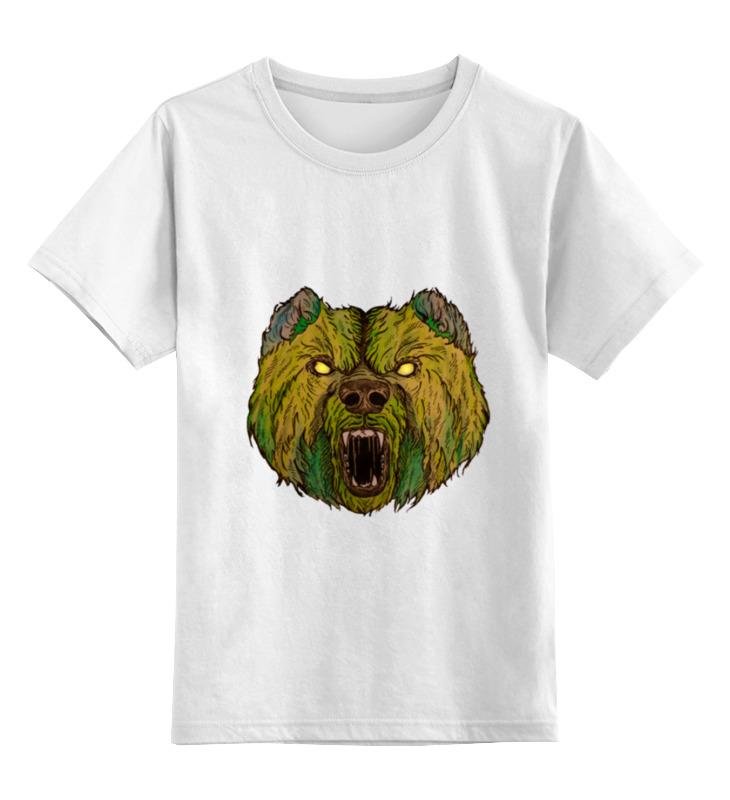 Детская футболка классическая унисекс Printio Evil bear 3 in 1 man s manual 2 blade single head shaver razor set black silver