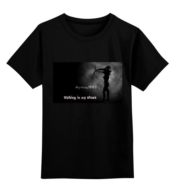 Детская футболка классическая унисекс Printio Walking in my shoes walking through the path of faith