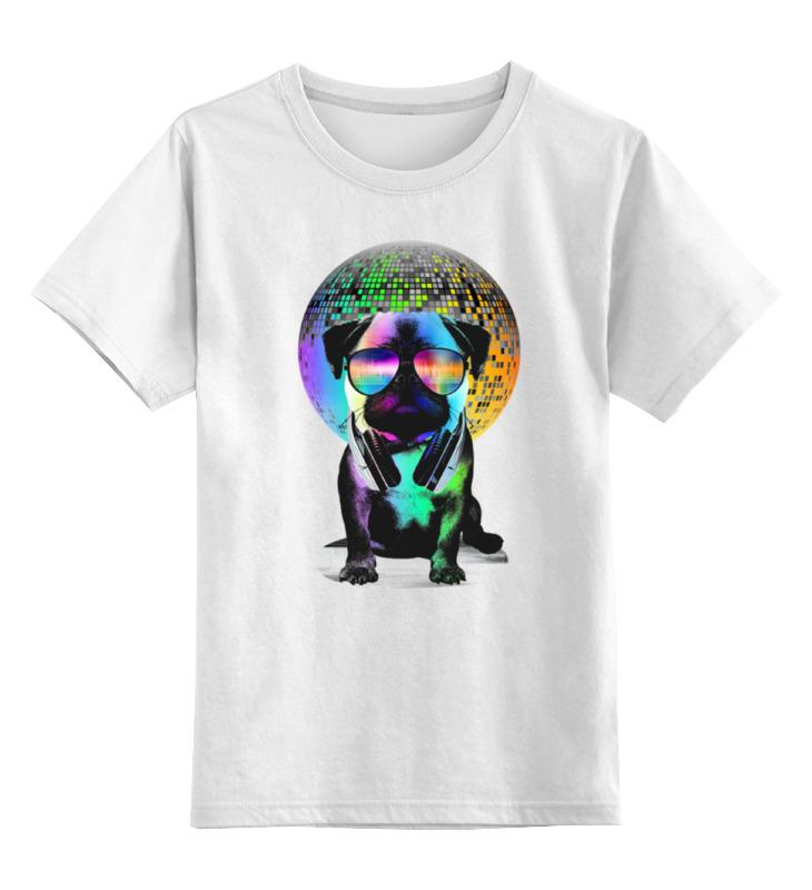 Детская футболка классическая унисекс Printio Диджей мопс майка классическая printio диджей мопс