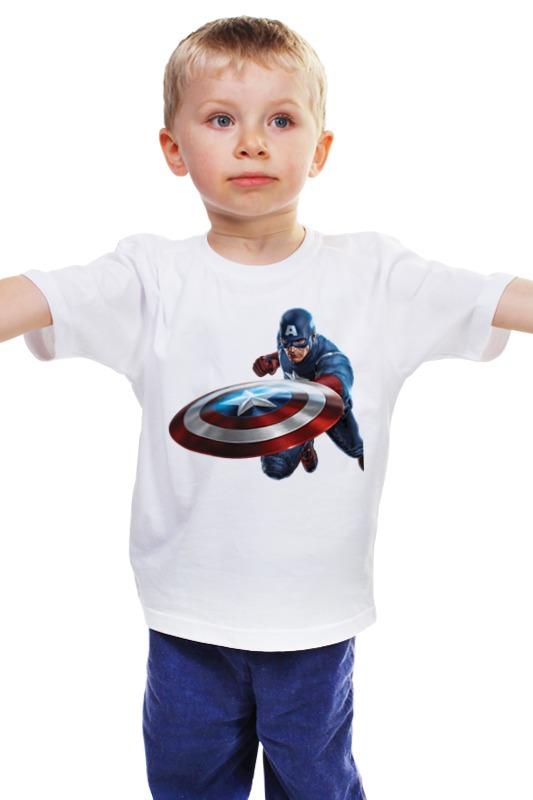 Детская футболка классическая унисекс Printio Капитан америка (captain america) центральна америка