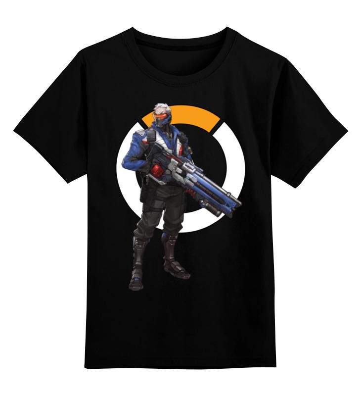 Детская футболка классическая унисекс Printio Overwatch soldier 76 / овервотч солдат 76 обложка для паспорта printio overwatch soldier 76 овервотч солдат 76
