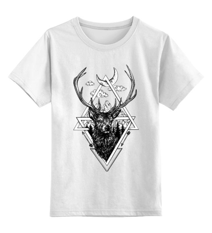 Детская футболка классическая унисекс Printio Могучий олень