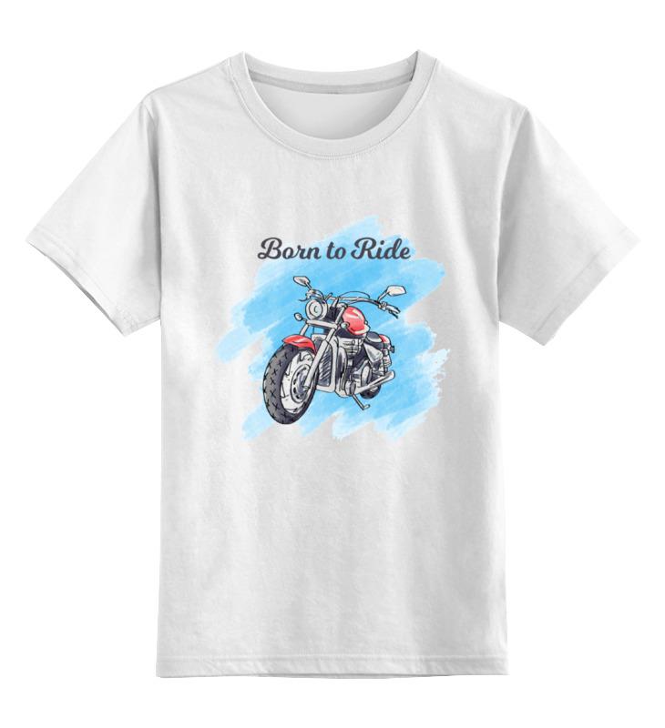 Детская футболка классическая унисекс Printio Born to ride детская футболка классическая унисекс printio born to design