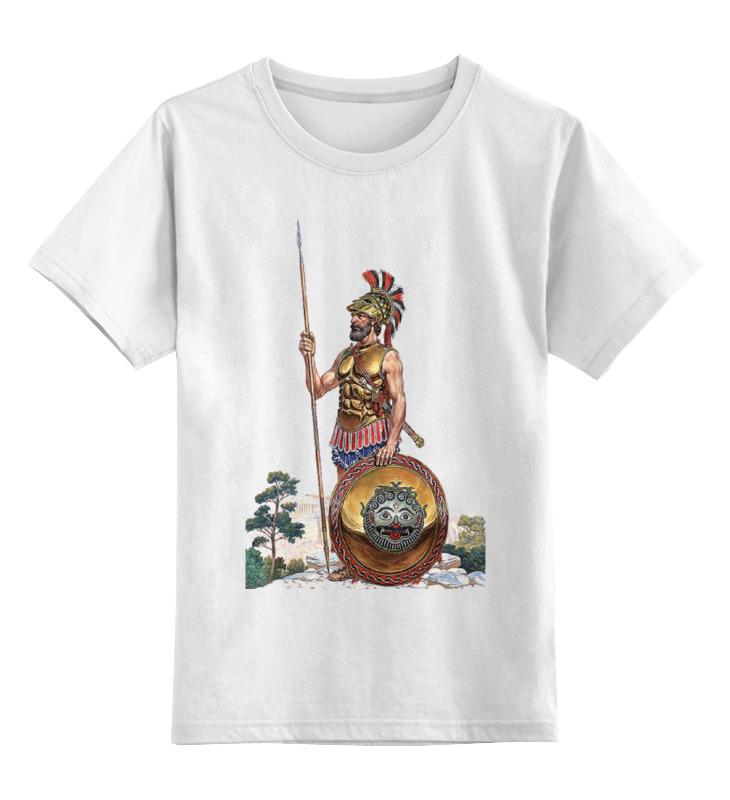 Детская футболка классическая унисекс Printio Древний воин. греция