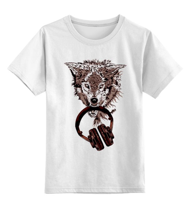 Детская футболка классическая унисекс Printio Волк меломан детская футболка классическая унисекс printio морской волк