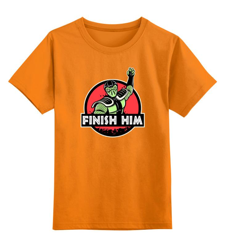 Детская футболка классическая унисекс Printio Finish him футболка print bar him