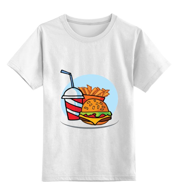 Детская футболка классическая унисекс Printio Фастфуд еда быстрого приготовления