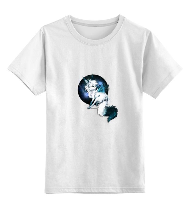 Детская футболка классическая унисекс Printio Белая волчица
