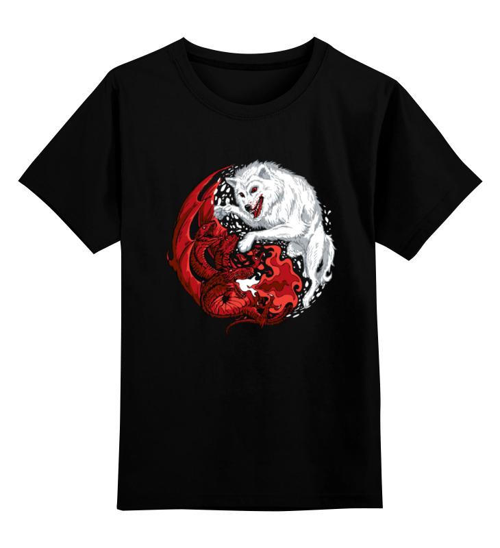 Детская футболка классическая унисекс Printio Волк и дракон (игра престолов) детская футболка классическая унисекс printio дракон и феникс
