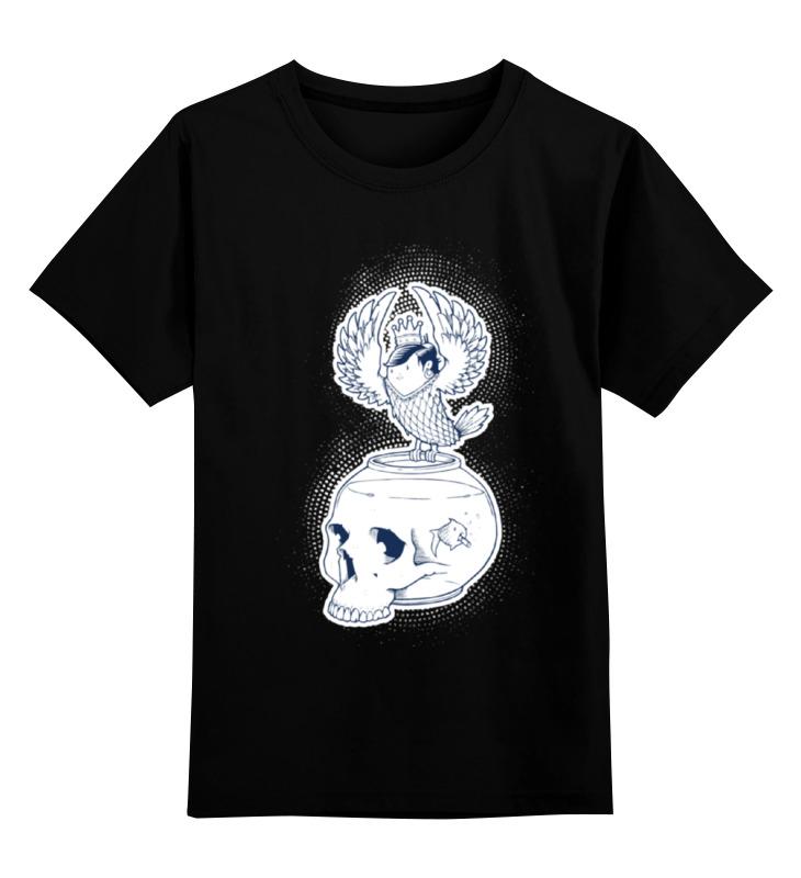 Детская футболка классическая унисекс Printio Fish scull / череп аквариум футболка print bar pink sugar scull