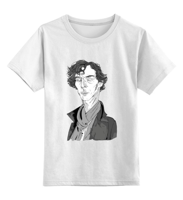 Детская футболка классическая унисекс Printio Шерлок холмс (sherlock holmes) шапка классическая унисекс printio шерлок холмс sherlock